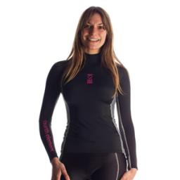 Fourth Element Hydroskin Womens Long Sleeve Black Pink